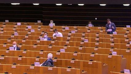 Toni Comín recorda a Borrell el seu suport als GAL al ple del Parlament Europeu