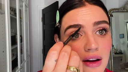 Lucy Hale on Battling Breakouts, Double Masking, and the Brow Hack She Swears By