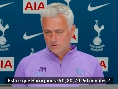 "30e j. - Mourinho : ""Kane débutera face à Manchester"""