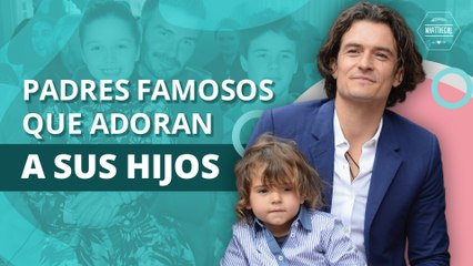 Padres famosos que adoran a sus hijos | Famous parents who adore their children