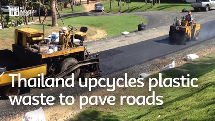 Thailand upcycles plastic waste to pave roads