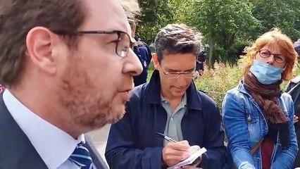 Bernard Schmeltz, préfet de la Côte-d'Or, s'exprime lors une ppération de police - Dijon et Chenôve le 19 juin 2020