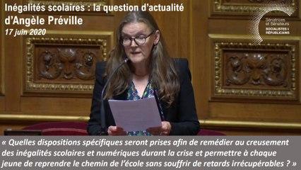 Angèle Préville : question d'actualité du 17 juin 2020