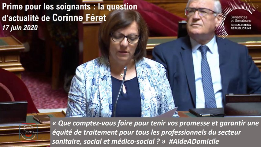 Corinne Féret : question d'actualité du 17 juin 2020