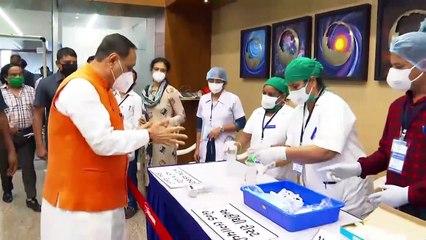 VIJAY RUPANI GIVES HIS VOTE FOR RAJYA SABHA ELECTION IN GUJARAT FOR 4 SEATS