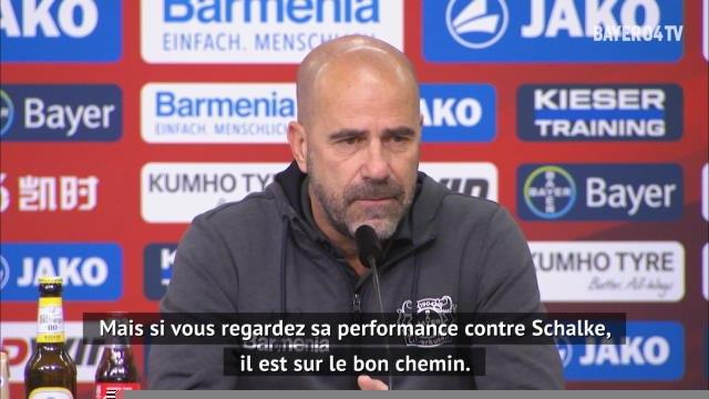 """Leverkusen - Bosz : """"Pour l'instant, Havertz ne peut pas faire beaucoup mieux"""""""
