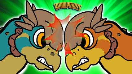 Pachycephalosaurus Song | Dinosaur Songs from Dinostory by Howdytoons S2E5