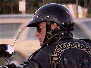 Johnny Hallyday - randonnées en Harley à travers les USA, de Miami à Daytona. 1990
