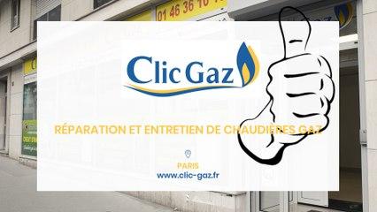 Clic Gaz, réparation, entretien, installation de chaudières gaz, radiateurs et ballons à Paris.