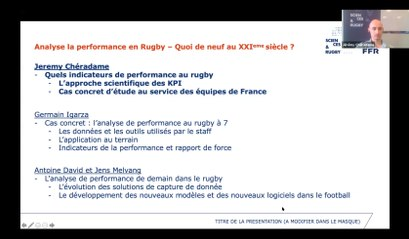 Analyser la performance en rugby, quoi de neuf au XXIème siècle ? (webinaire n°2)