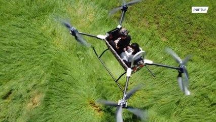 Octocóptero chinês pretende mudar resgates e operações policiais