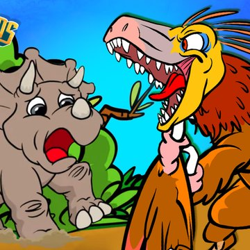 Quicksand!  Triceratops Vs Velociraptor | Dinosaur Songs from Dinostory by Howdytoons S2E6