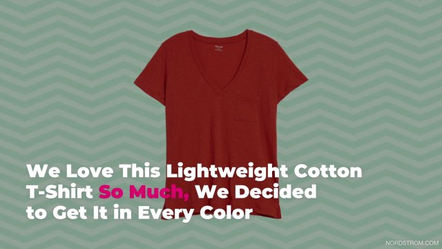 We Love This Lightweight Cotton T-Shirt So Much, Decided to Get It in Every ColorWe