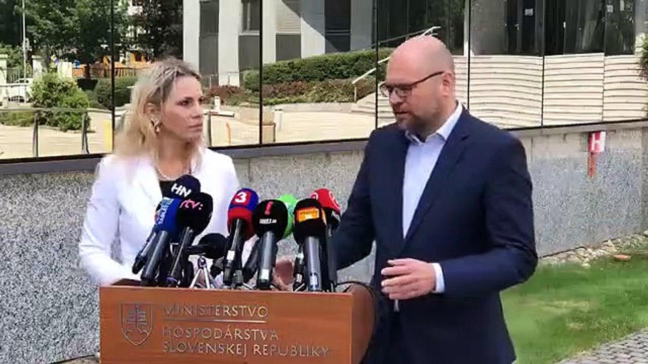ZÁZNAM: TK ministra hospodárstva SR Richarda Sulíka