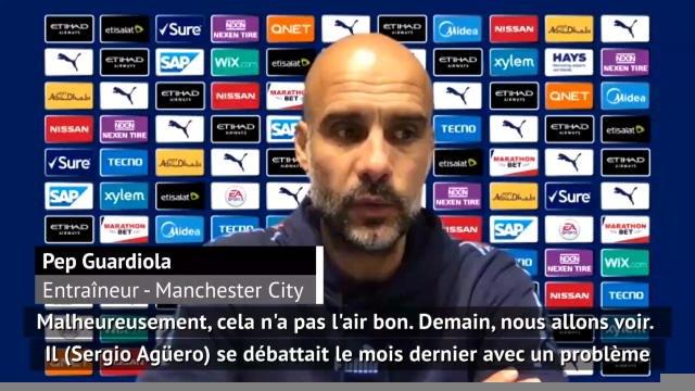 30e j. - Guardiola a peur que la saison d'Agüero soit terminée