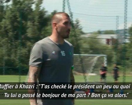 """Saint-Etienne - Ruffier vanne Khazri sur sa rencontre avec Macron : """"T'as checké le président ?"""""""