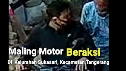 Maling Gasak Motor di Sukasari Tangerang