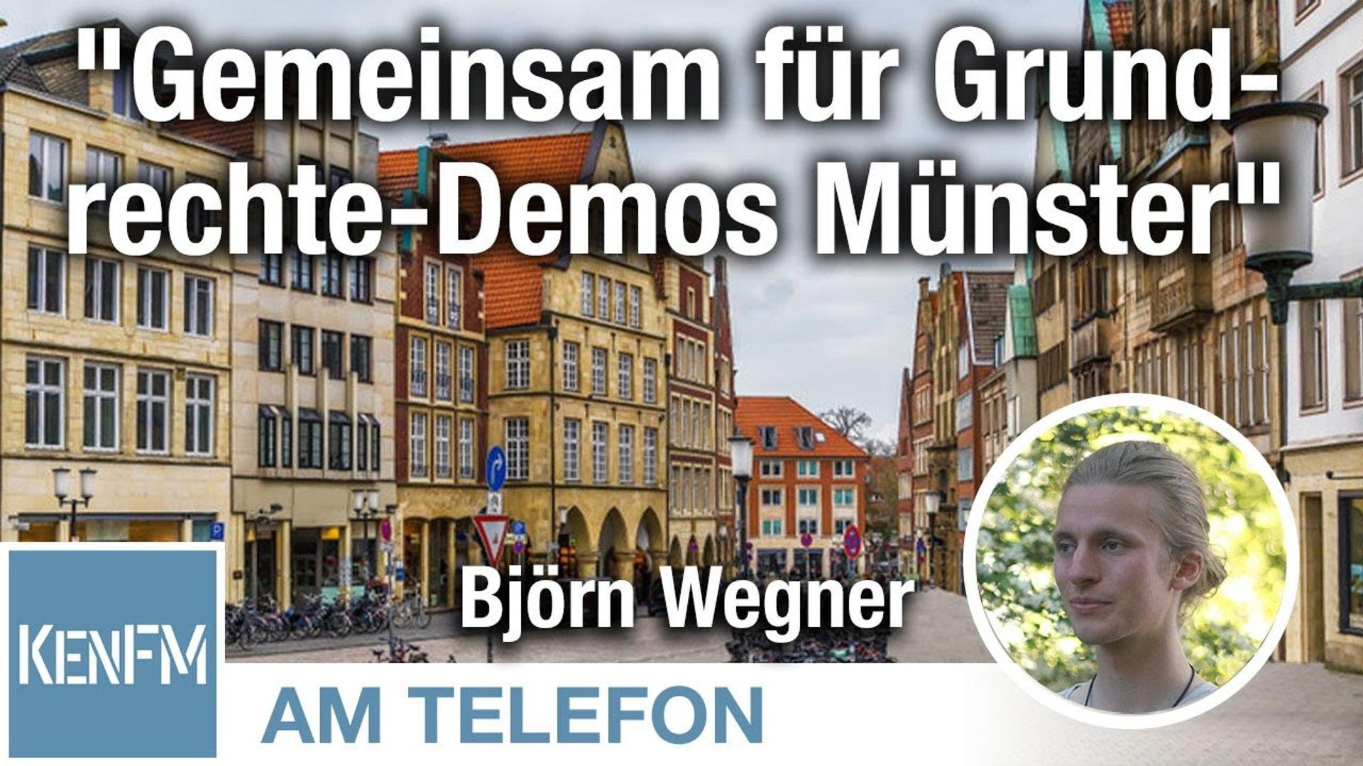 """Am Telefon zu """"Gemeinsam für Grundrechte-Demos Münster"""": Björn Wegner"""
