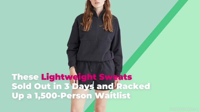 These Lightweight Sweats Sold Out in 3 Days and Racked Up a 1,500-Person Waitlist