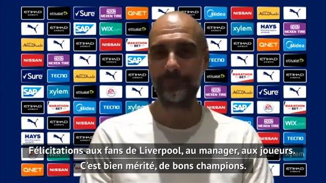 31e j. - Guardiola et Lampard félicite Liverpool pour son titre