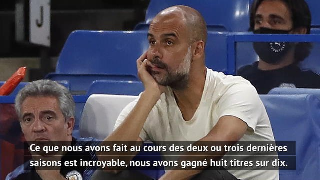 "31e j. - Guardiola : ""On a surement manqué d'envie et de concentration"""