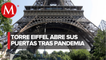 Torre Eiffel reabre al público tras 3 meses sin actividad por coronavirus