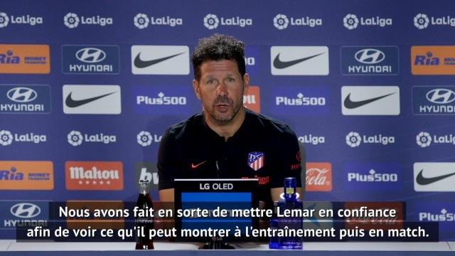 """Atlético Madrid - Simeone : """"Lemar a notre confiance, tout dépend de lui à présent"""""""