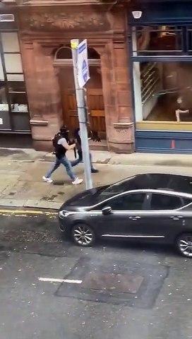 Glasgow latest shocking scenes - 1 Police officer down