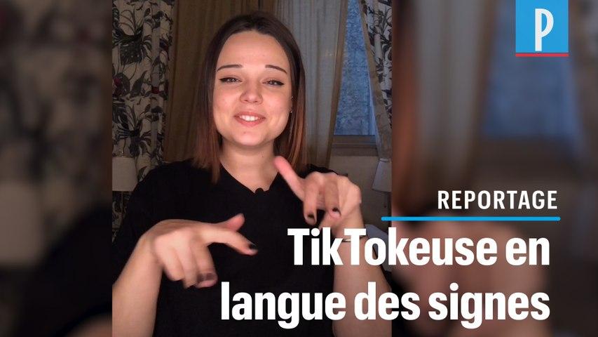 Camille utilise TikTok pour communiquer en langue des signes
