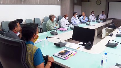 GUJARAT HEALTH OFFICER MEETING WITH CENTRAL TEAM OF EXPERT DOCTORS ON COVID-19 SITUATION