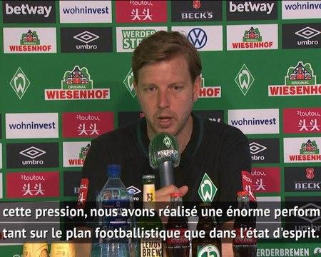 """34e j. - Le soulagement de l'entraîneur du Werder après un match """"sous immense pression"""""""
