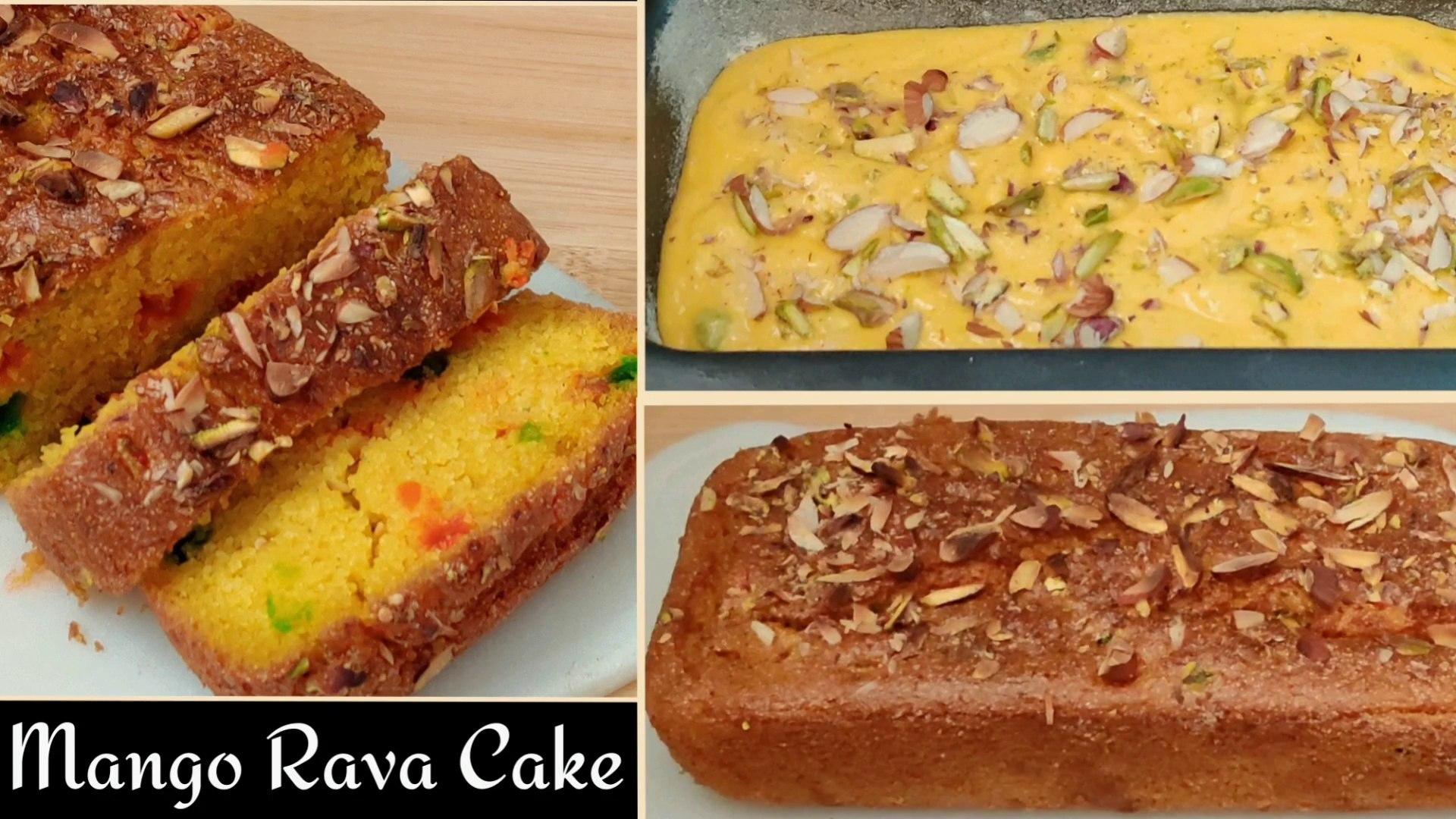 MANGO RAVA CAKE | Mango Cake Recipe | Suji Mango Cake |Semolina Cake #mangocake #soojicake #ravacake