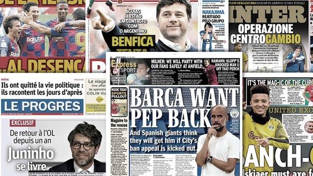 Le FC Barcelone veut rapatrier Pep Guardiola, l'Inter veut frapper fort sur le mercato