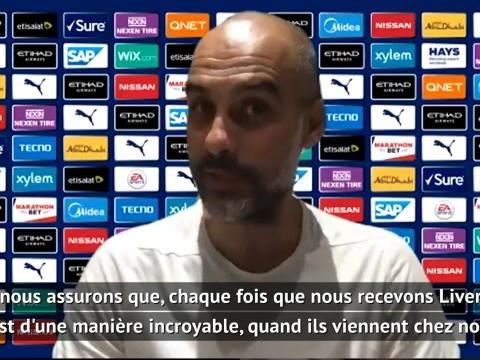 """32e j. - Guardiola : """"Nous ferons une haie d'honneur à Liverpool"""""""