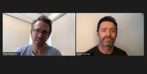 Ryan Reynolds crashes Hugh Jackman's X-Men reunion and it's hilarious !