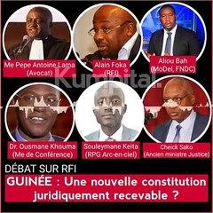 Le débat sur la falsification de la nouvelle constitution en Guinée s'invite sur RFI