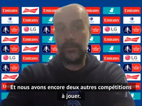 """Man City - Guardiola : """"La FA Cup est la meilleure préparation possible avant le Real"""""""