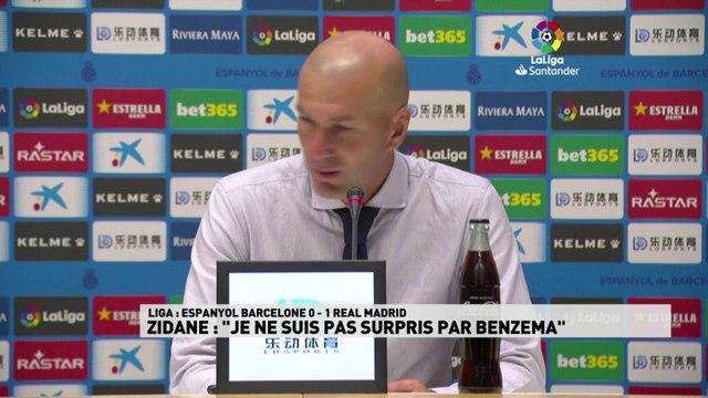 """Zidane : """"Je ne suis pas surpris par Benzema"""""""