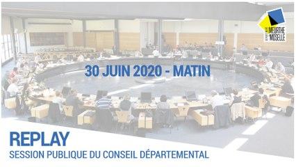 Session du 30 juin 2020 - Matin