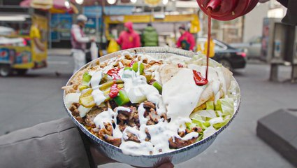 The Halal Guys' chicken and gyro platter is NYC's most legendary street food