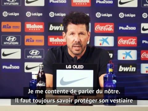 """Atlético - Simeone : """"La gestion des émotions est ce qu'il y a de plus important dans un vestiaire"""""""