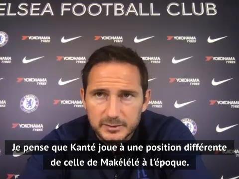 """Chelsea - Lampard : """"Kanté n'a pas le même rôle que celui de Makélélé à l'époque"""""""