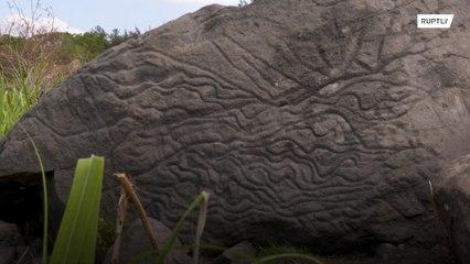 Arqueologistas descobrem no México um mapa numa pedra de mais de 2 mil anos