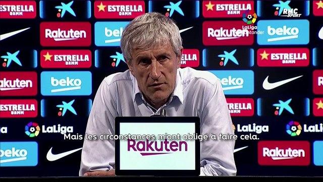 Barça : Setién ne va pas s'excuser auprès de Griezmann