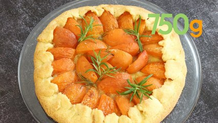 Recette de la tarte rustique aux abricots et romarin - 750g