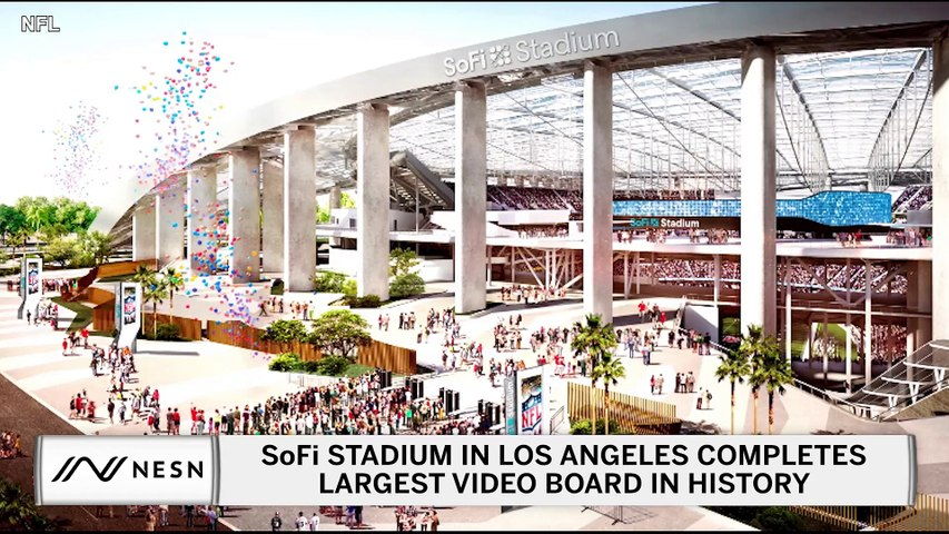 SoFi Stadium In Los Angeles Completes Largest Video Board In Sports