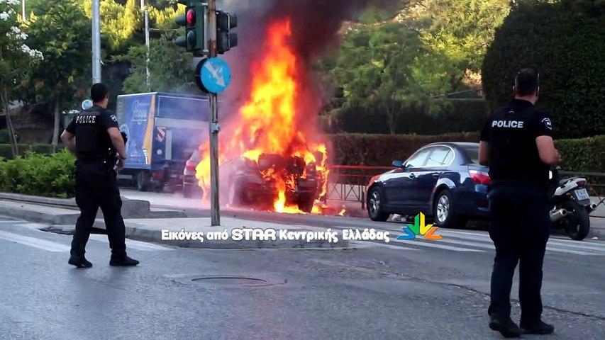 ΑΠΟΚΛΕΙΣΤΙΚΑ ΠΛΑΝΑ!!! Φωτιά σε ΙΧ στη Γαλατσίου