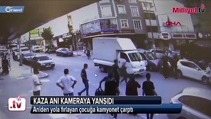 لحظات اصطدام شاحنة بطفل سوري في حي أنسيورت بإسطنبول