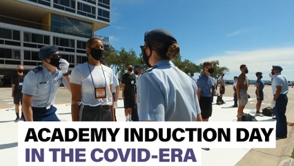 Watch the first class of the Covid-era arrive at the Air Force Academy for Induction Day.
