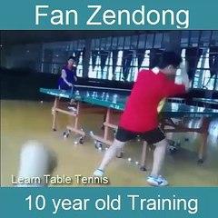 Fan Zendong 10 year old Training